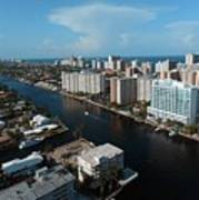 Fort Lauderdale Aerial Photography Poster