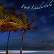 Fort Lauderdale Beach Greeting Poster