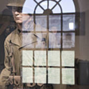 Fort Macon Through Glass Poster