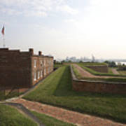 Fort Mchenry Earthworks And Barracks In Baltimore Maryland Poster