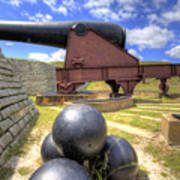 Fort Moultrie Cannon Balls Poster