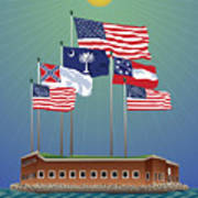 Fort Sumter, Charleston, Sc Poster