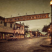 Fort Worth Impressions Stockyards Poster