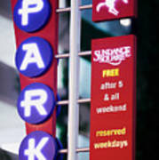 Fort Worth Parking Sign Digital Oil Paint Poster