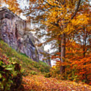 Fortification Koenigstein In Autumn Time Poster