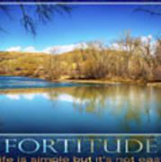 Fortitude Boise Motivational Artwork By Omashte Poster