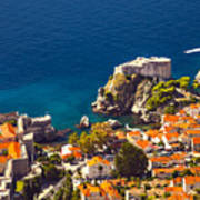 Fortress Of Dubrovnik From Above Poster
