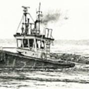 Foss Tugboat Sea Duke Poster