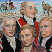 Founding Fathers Jay Madison Paine And Hamilton Poster