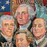 Founding Fathers Of America Poster