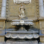 Fountain At Quattro Canti In Palermo Sicily Poster