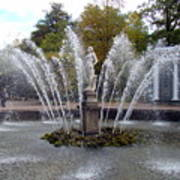 Fountain On The Grounds Of The Peterhof Grand Palace Poster
