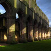 Fountains Abbey Shadows Poster