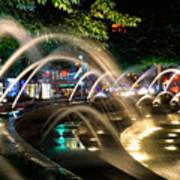 Fountains At Columbus Circle Poster