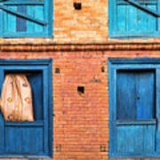 Four Blue Windows Poster