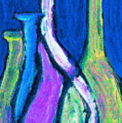 Four Bottle Abstract Poster