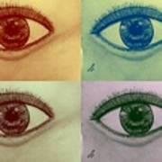 Four Eyes In Pop Art Poster