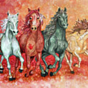Four Horses Of The Apocalypse Poster