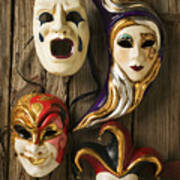 Four Masks Poster