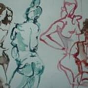 Four Nude Figures Poster