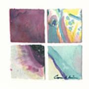 Four Squares Pastelisa Poster