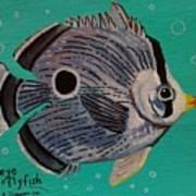 Foureye Butterflyfish Poster