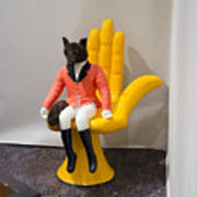 Fox On Hand Chair Poster