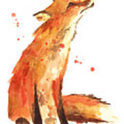 Fox Painting - Print From Original Poster