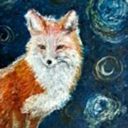 Fox Red  Painting  Poster