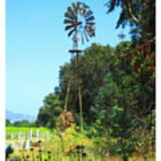 Foxen Adobe Windmill Poster