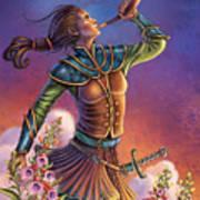 Foxglove - Summon Your Courage Poster by Anne Wertheim