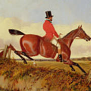 Foxhunting - Clearing A Bank Poster