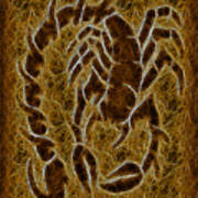 Fractal Abstract Scorpion Poster