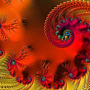Fractal Art - Breath Of The Dragon Poster