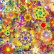 Fractal Floral Study 2 Poster