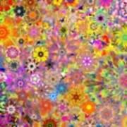 Fractal Floral Study 3 Poster