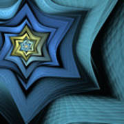 Fractal Star Poster