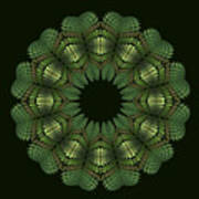 Fractal Wreath-32 Spring Green T-shirt Poster