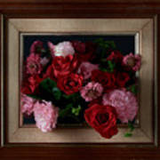 Framed Bouquet Of Flowers Poster