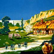 France Normandy Vintage Travel Poster Restored Poster