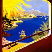France Vintage Travel Poster Restored Poster