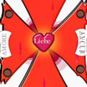 Franco-italian Hispanic German Cross Poster