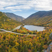 Franconia Notch Autumn View Poster