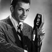 Frank Sinatra At  Nbc Radio Station 1941 Poster