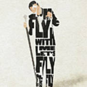 Frank Sinatra Typography Art Poster