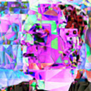 Frankenstein In Abstract Cubism 20170407 Square Poster