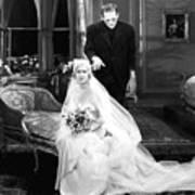 Frankenstein Monster Sneaks Up On Bride 1931 Movie Poster
