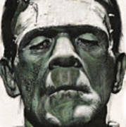 Frankenstein Portrait Poster