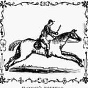 Franklin: Post Rider, 1775 Poster