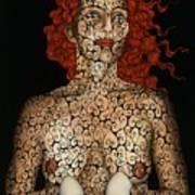 Frau Mit Eiern Poster